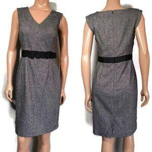 Banana Republic Wool Blend V Neck Sheath Dress